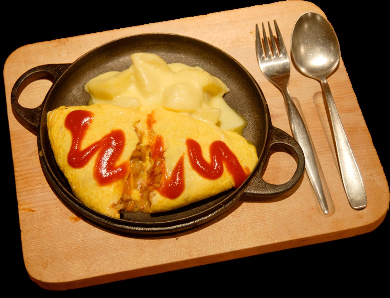 納豆のオムレツ